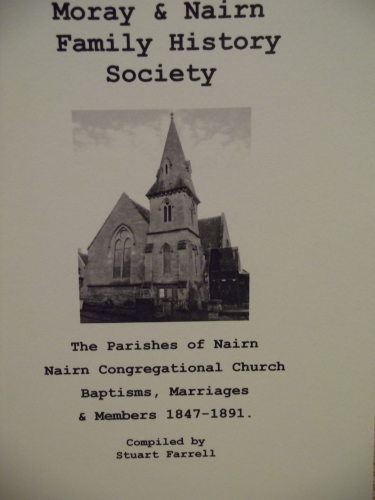 Nairn Congregational Church - Baptisms, Marriages & Members 1847-1891