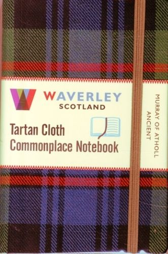 Murray of Atholl Ancient: Waverley Genuine Tartan Cloth Commonplace Notebook (9cm x 14cm)