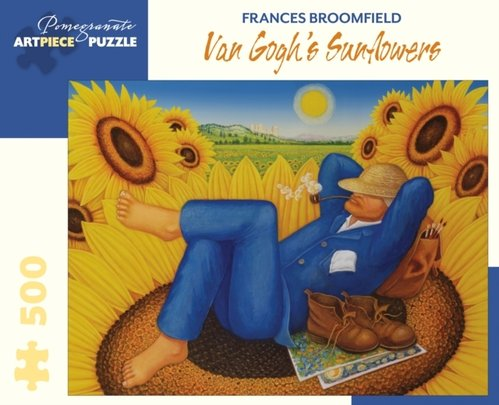 Frances Broomfield : Van Goghs Sunflowers 500-Piece Jigsaw Puzzle